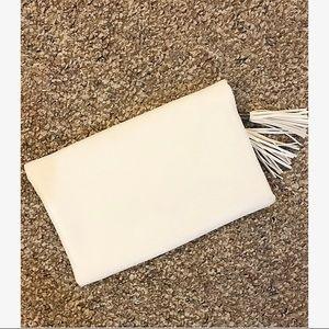 Express Bags - Francesca's, white, Venus clutch!